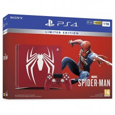 PlayStation 4 SLIM Spider-Man Limited Edition Bundle (1 Tb, Spider-Man, красный), 235078, Консоли